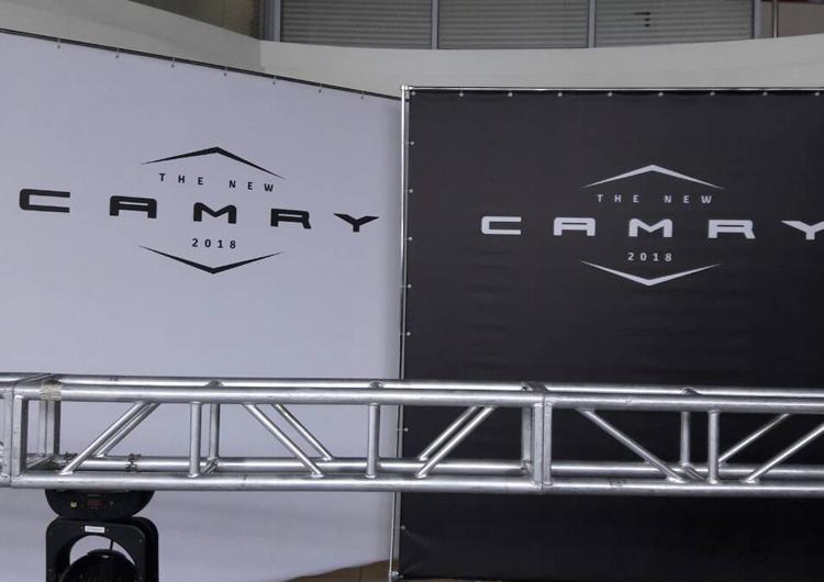 Фотозона 3х3 для презентації Camry