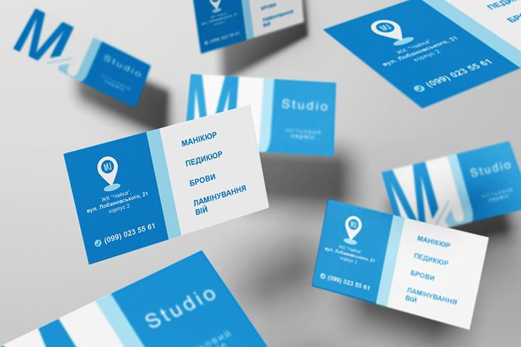Розробка дизайну візитку