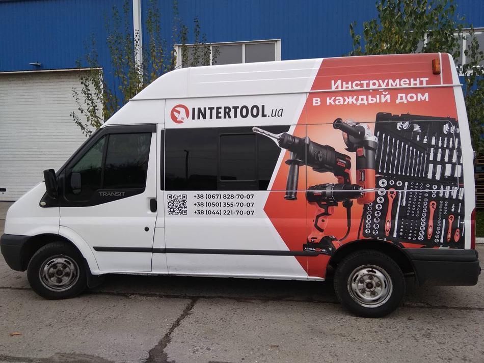 Оклейка авто для компанії Intertool
