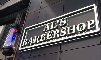 вивіска для AL'S Barbershop Київ